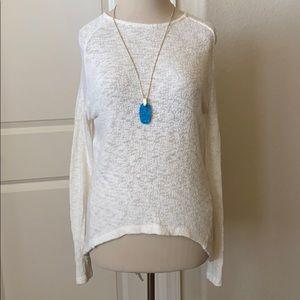 Zara High-Low Cotton Sweater